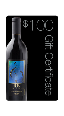 $100 R&B Cellars Gift Certificate