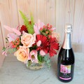 Valentine's Day Flowers & Bubbly